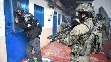 صورة اعتداء على الأسرى بسجن جلبوع